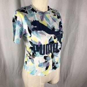 Puma Small Tee Shirt Multi Color Short Sleeves